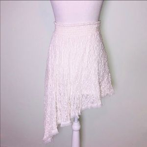 Free People Skirts - Free People Tea Party Smocked Asymmetrical Skirt